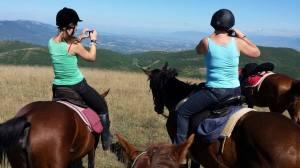 Italië paarden uitzicht