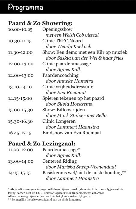 programma paard en zo 2015