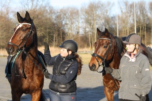 2 paarden ruiters