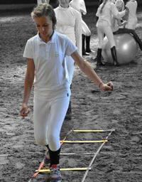 coördinatie ruiter fitbal touwladder