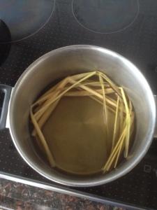 Citroengras koken pan
