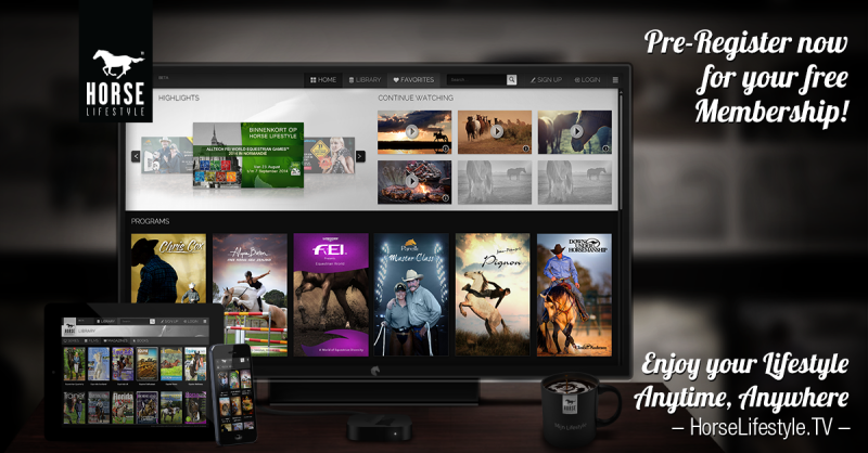 televisie telefoon ipad tablet horselifestyle.tv free month
