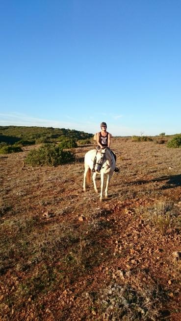 Paard horse Portugal buitenrit